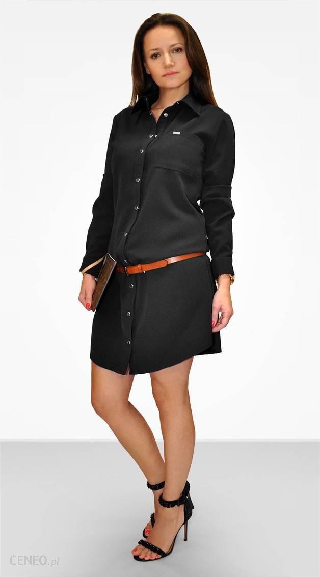 573fc056f6 Bien Fashion Czarna sukienka szmizjerka czarny - Ceny i opinie ...
