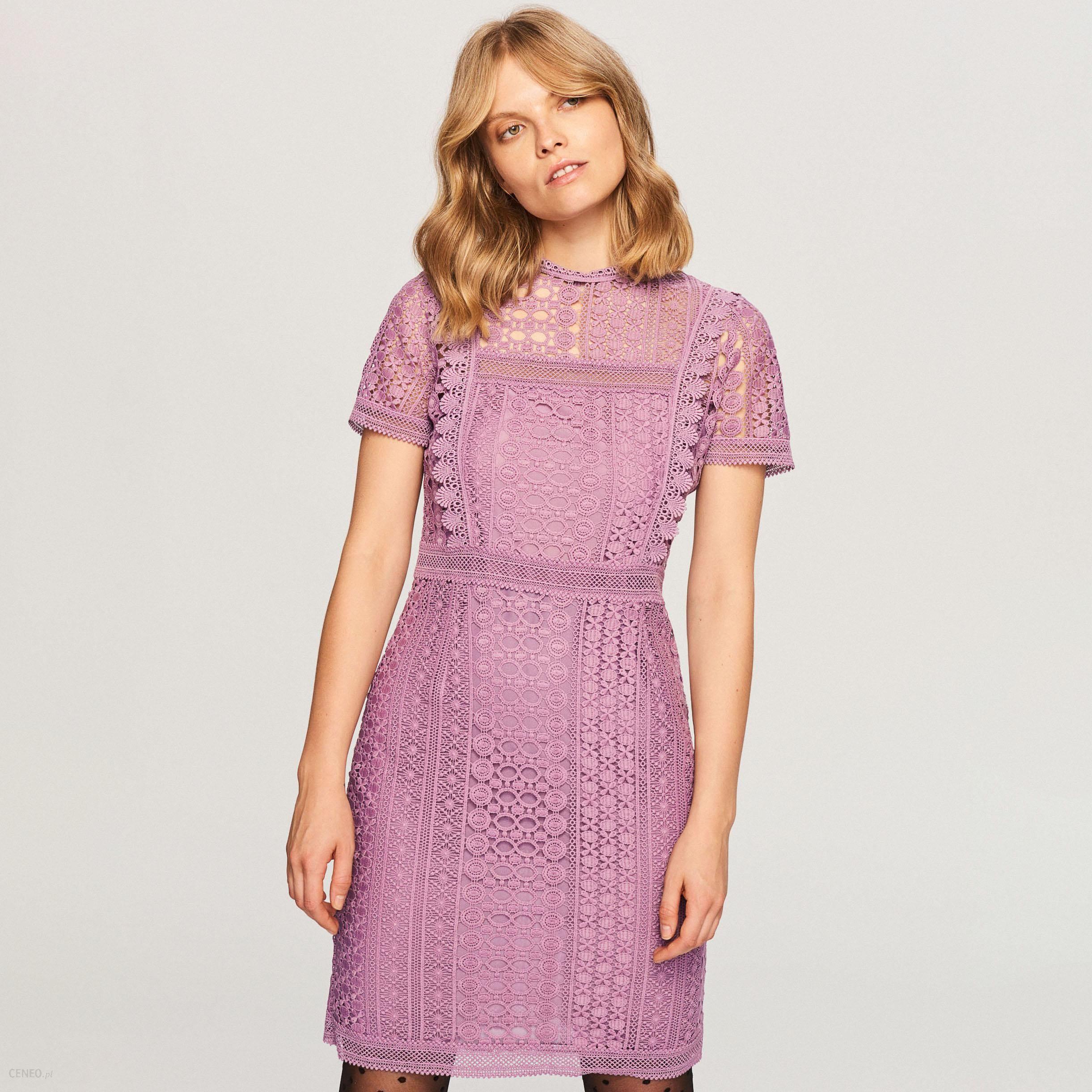 0a718820 Reserved - Koronkowa sukienka - Fioletowy - Ceny i opinie - Ceneo.pl