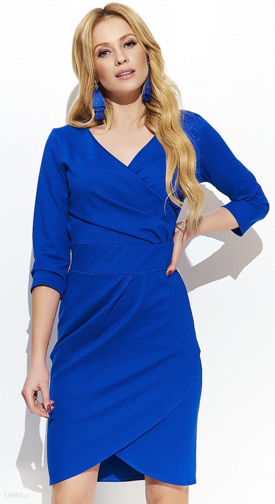 d595f43983 Makadamia sukienka damska 44 niebieska - Ceny i opinie - Ceneo.pl