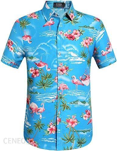Amazon SSLR męska koszula z motywem płomieni i kwiatów Aloha  wA2hY