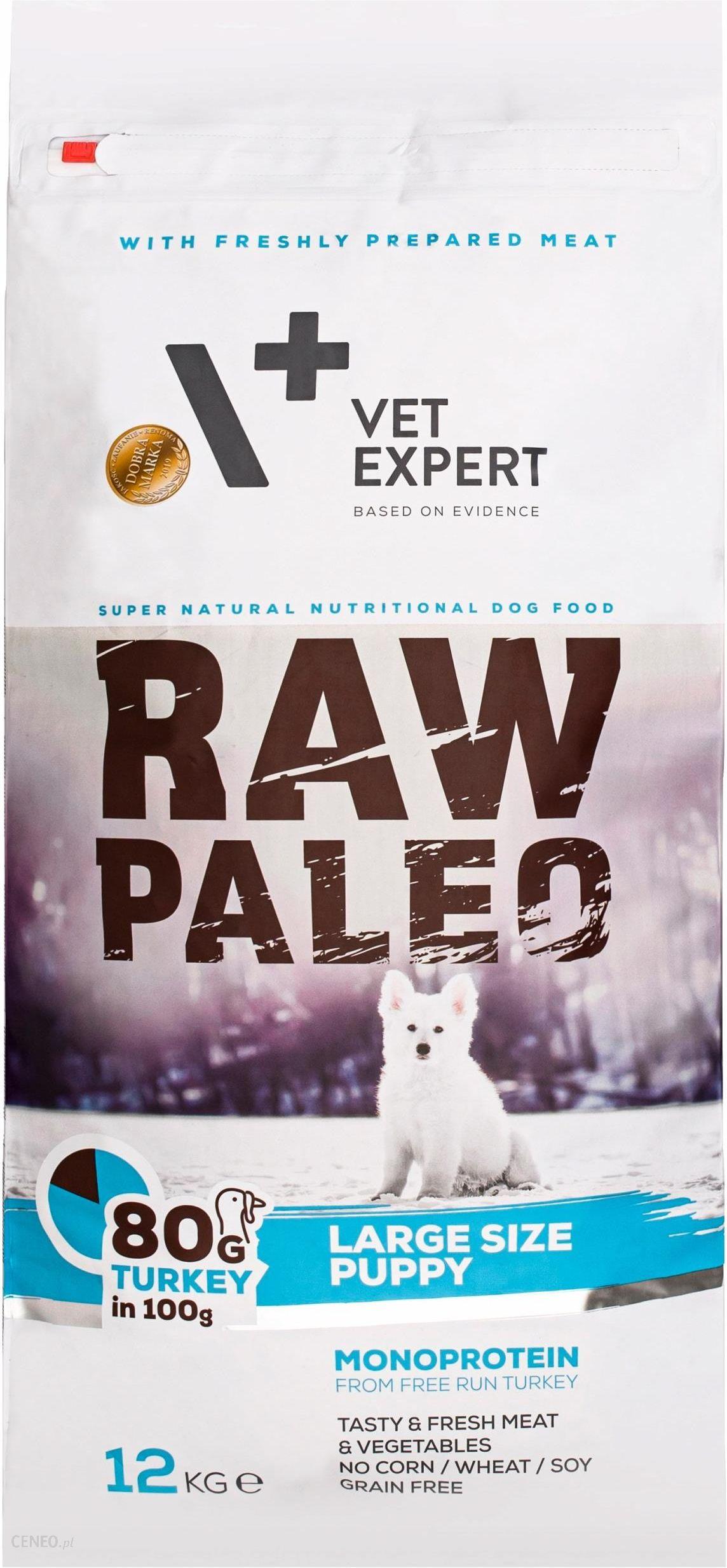 Vet Expert Raw Paleo Puppy Large Dla Szczeniąt Ras Dużych Indyk 12Kg