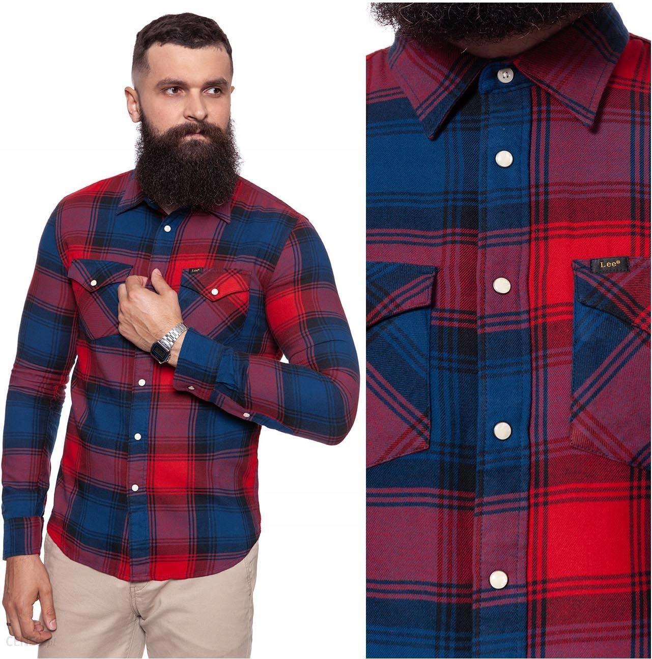 Lee Western Shirt Koszula Flanelowa Męska Slim M Ceny i  N3cUA