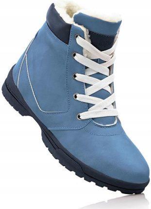 32a144f19595ea Kozaki zimowe niebieski 36 S 948643 bonprix Allegro