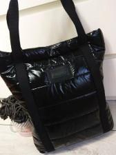 868fa8e22a6c7 Torebka czarna shopper pikowany ortalion Gallantry - Ceny i opinie ...