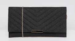 5c870d7efe0 Accessorize Kelly black glitter clutch bag - Black - zdjęcie 1