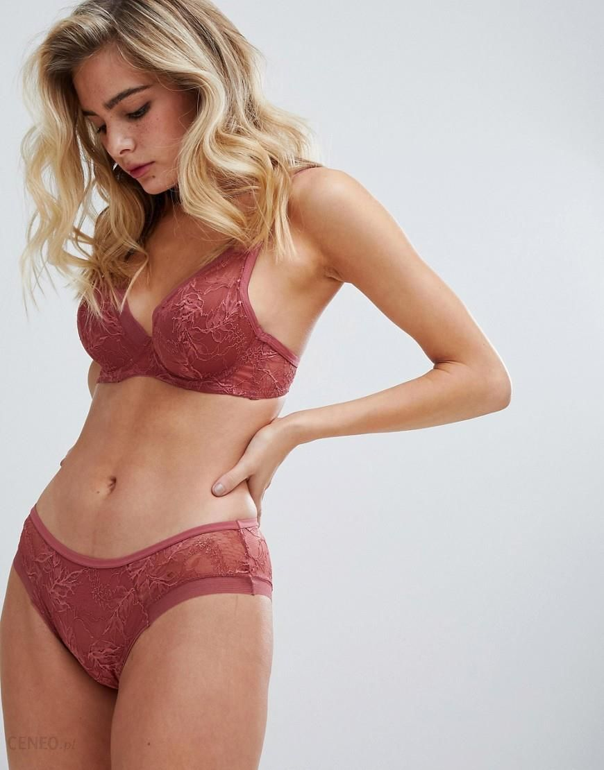 89bf2f6bc8dd3 Oysho floral lace pant in rust - Red - zdjęcie 1