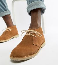 Zign Suede Perforated Detail Lace Up Shoes | ASOS