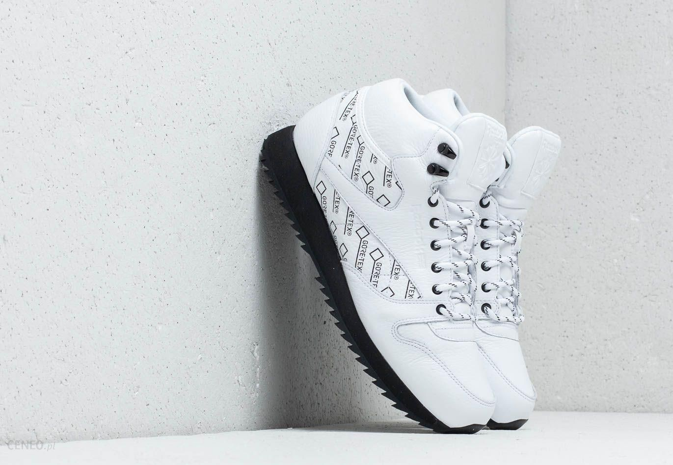 4b2e8713e21 Reebok CL Leather Mid Ripple Gore-Tex White  Black - zdjęcie 1