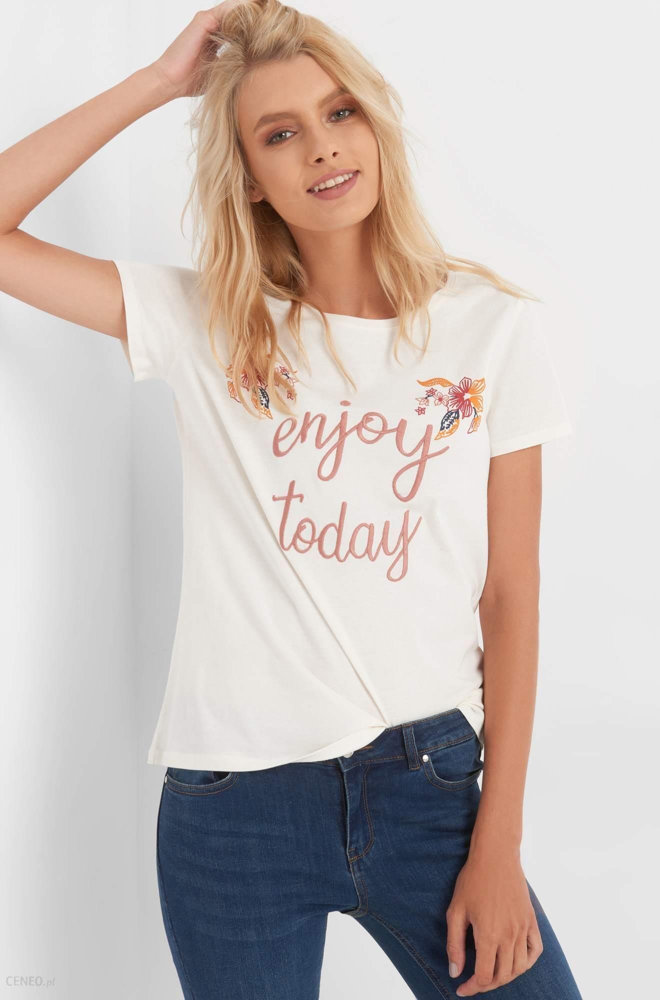 8344fce5fd Orsay T-shirt z haftem i nadrukiem - Ceny i opinie - Ceneo.pl