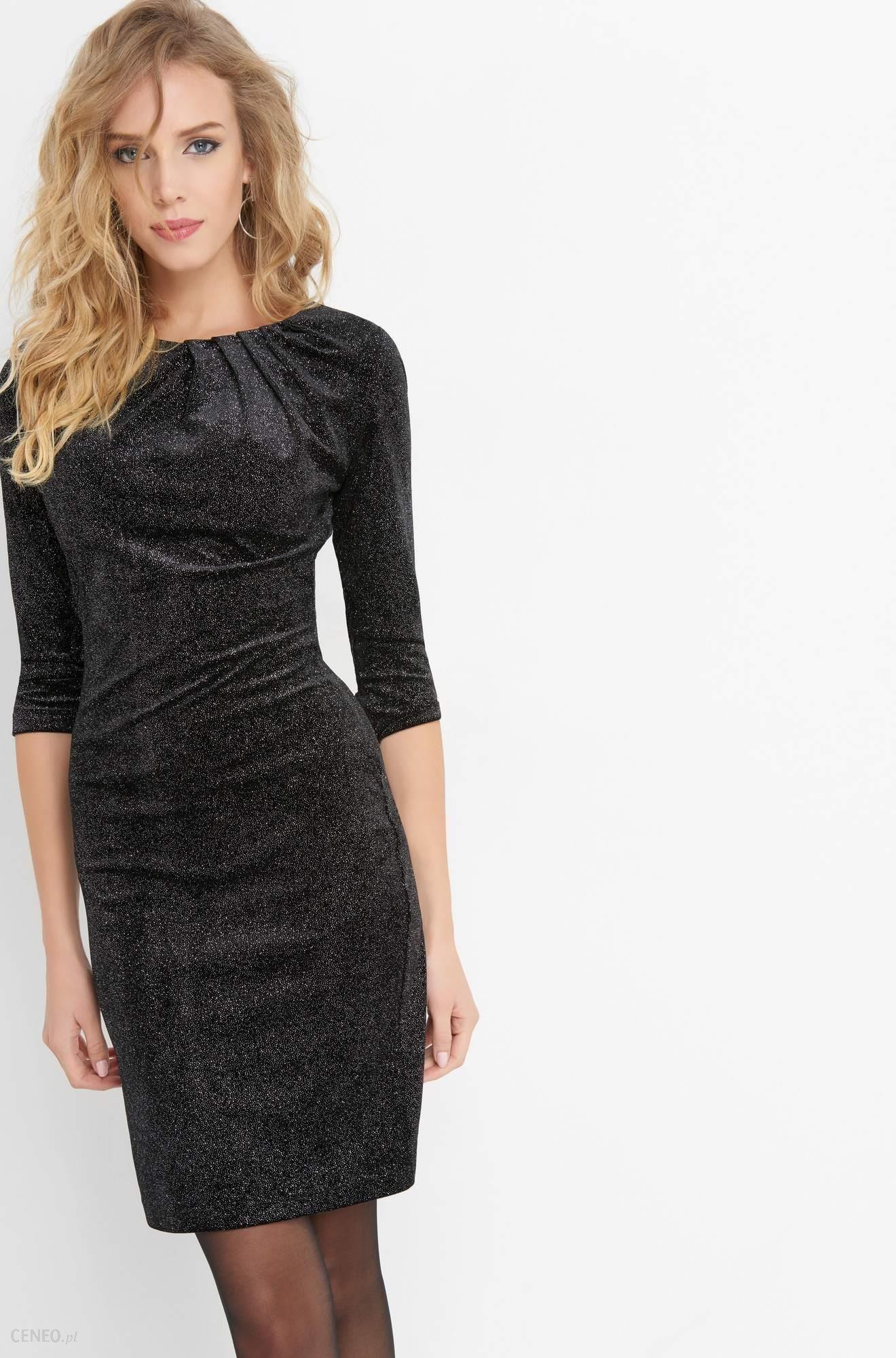 b48f5c0592 Orsay Aksamitna sukienka z brokatem - Ceny i opinie - Ceneo.pl