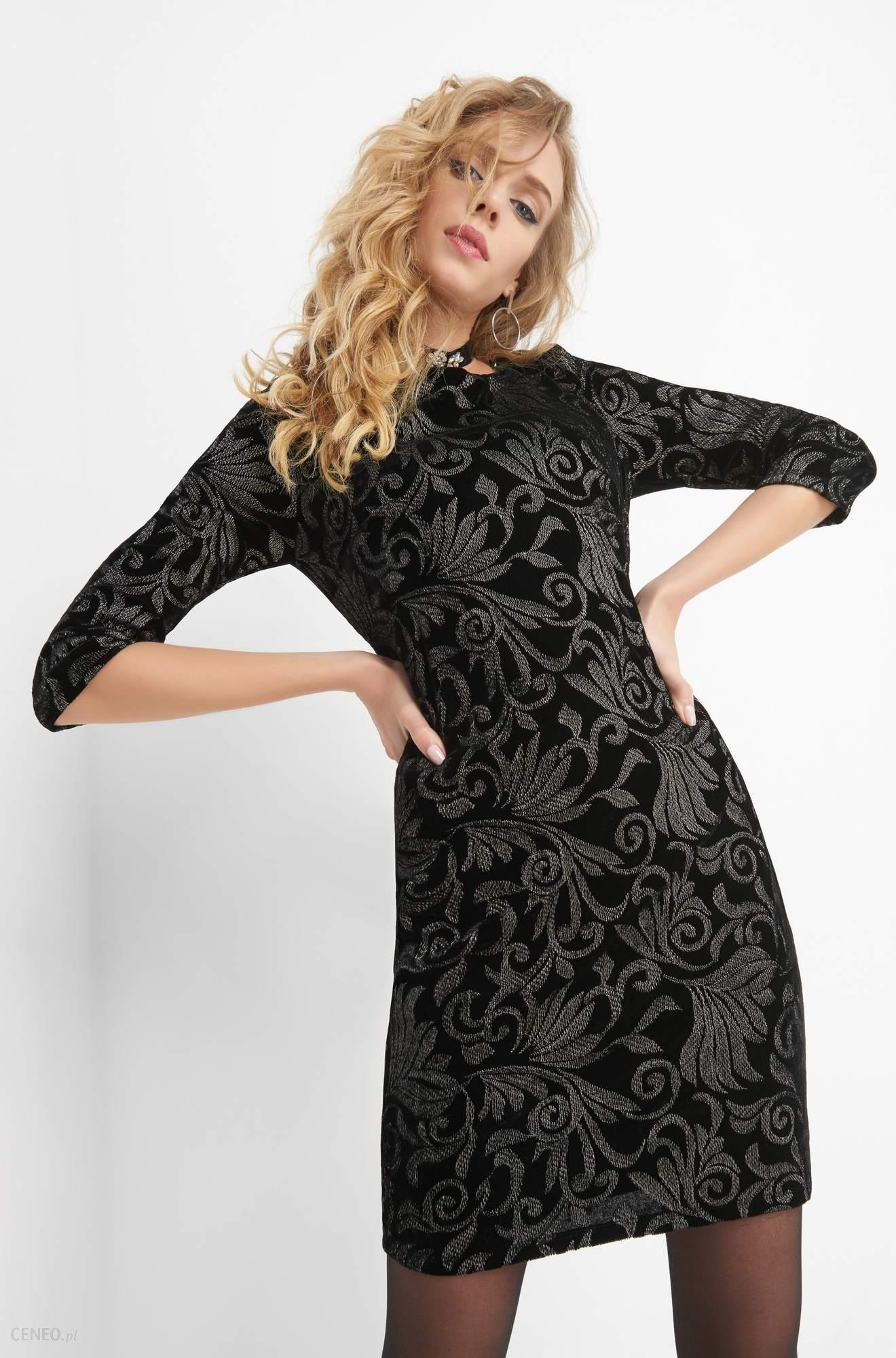 8a620f4cc4c4 Orsay Welurowa sukienka z haftem - Ceny i opinie - Ceneo.pl