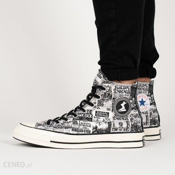 1b02adf7cefba7 Buty męskie sneakersy Converse x Suicidal Tendencies Chuck 70 Hi 162880C -  BIAŁY - zdjęcie 1