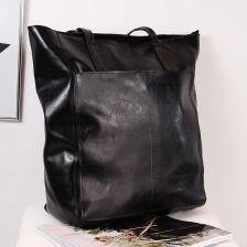 Skórzana torebka DAN A T379 czarna Czarny Ceny i opinie Ceneo.pl