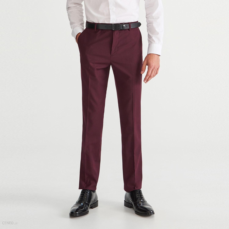c9784f2975 Reserved - Spodnie garniturowe slim fit - Fioletowy - Ceny i opinie ...