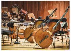 Decormint Plakat Premium Instrumenty Muzyczne Wiolonczela Na Scenie
