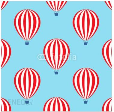 Decormint Plakat Samoprzylepny Balon Na Gorące Powietrze Wzór Dziecko Prysznic Wektorowe Ilustracje Na Niebieskiego Nieba Tle 30x30cm Opinie I