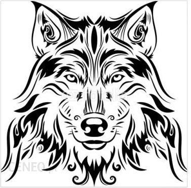 Decormint Plakat Samoprzylepny Piękny Wilk Tatuaż Wektor Wilk Głowa Jako Projekta Element Na Odosobnionym Tle 30x30cm Opinie I Atrakcyjne Ceny Na