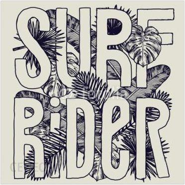 Decormint Plakat Samoprzylepny Surfujący Jeździec Tropikalny Druk Liści 30x30cm Opinie I Atrakcyjne Ceny Na Ceneopl