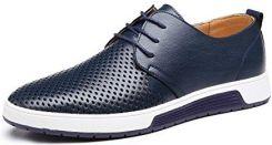 a5f650c21064a Amazon Męskie buty do garnituru Oxford, buty skórzane Derby Business Casual  skóra lakierowana wesele półbuty sznurowane czarne brązowe niebieskie 38-4