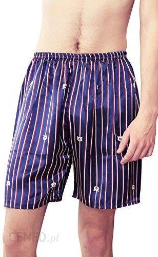 414a667bd8c003 Amazon Dolamen spodnie męskie do pidżamy krótkie szorty, 2 sztuki męskie  satynowe bielizna bokserki bielizna