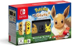 Nintendo Switch Pikachu & Eevee Edition 32GB + Pokemon Let's Go Evee + Poke Ball