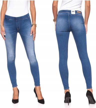 Lee Scarlett Cropped Spodnie Jeansy Khaki W29 L31 Ceny i