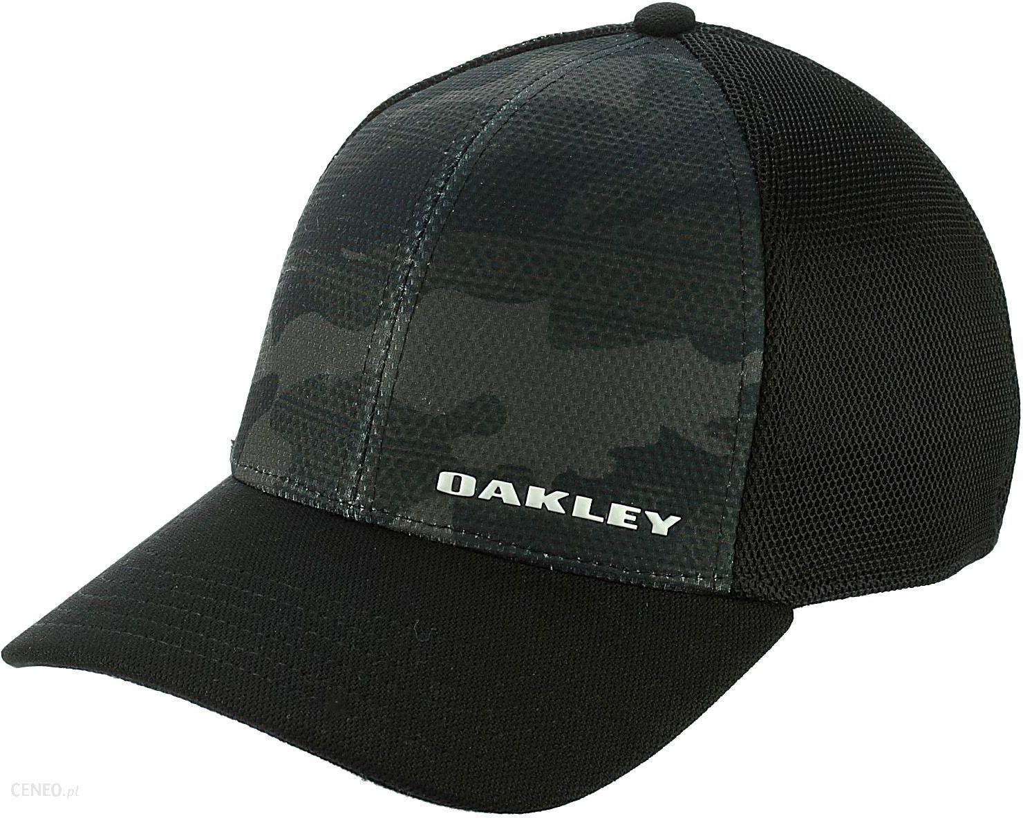 czapka z daszkiem Oakley Silicon Bark Trucker Print 2.0 - Black S M -  zdjęcie 3d25dd52353