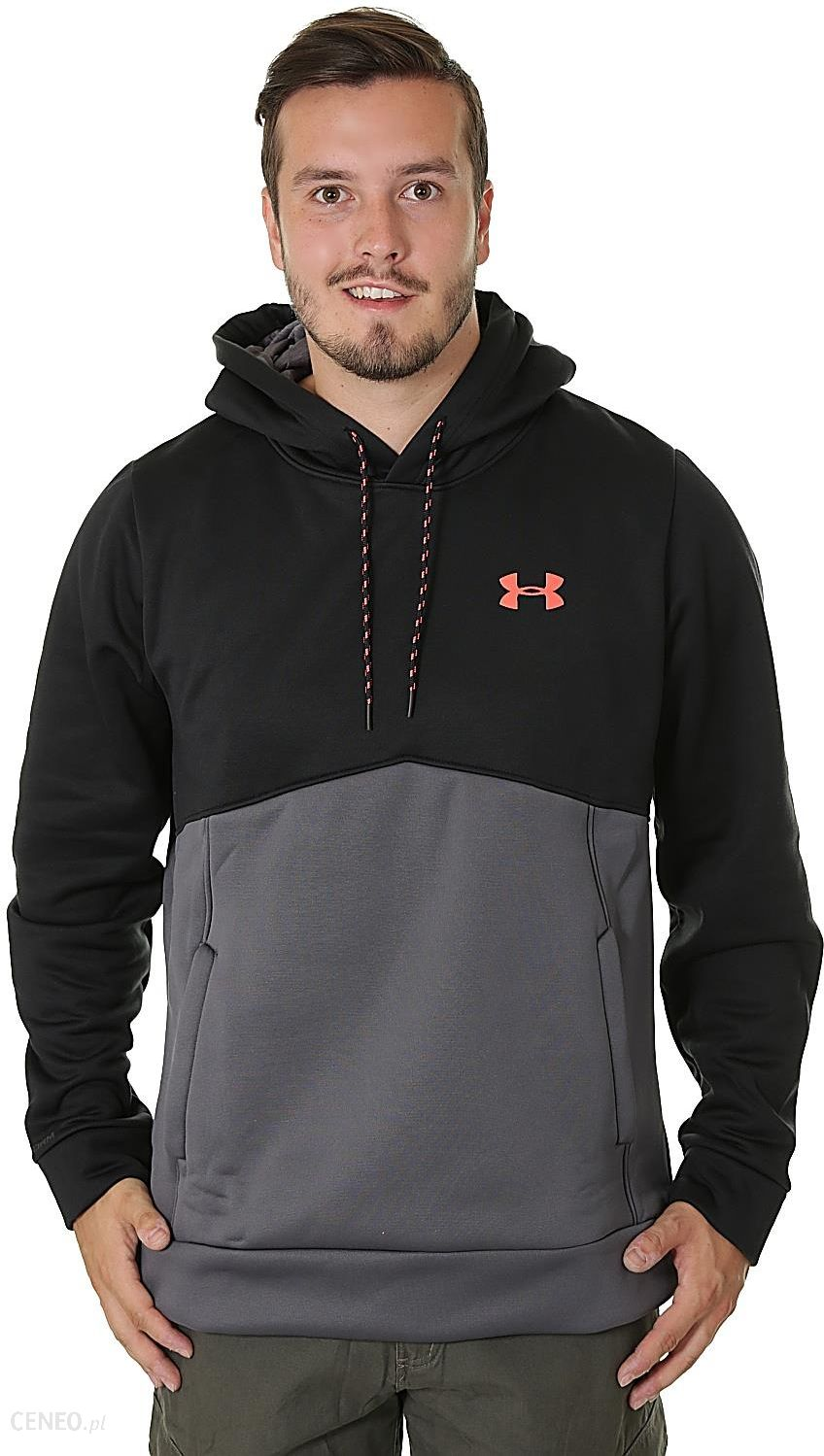 Bluza Under Armour Storm AF Icon Solid - 003 Black Neon Coral XL ... f2a5eb3d49