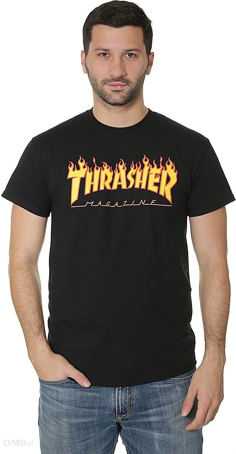 koszulka Thrasher Flame Logo Black XL