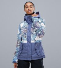 Roxy Jetty Block Jacket in Multi Print - Multi