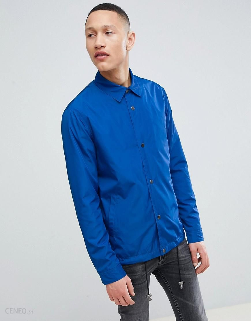 ASOS DESIGN Coach Jacket In Cobalt Blue - Blue - zdjęcie 1 d2cbbe6a00