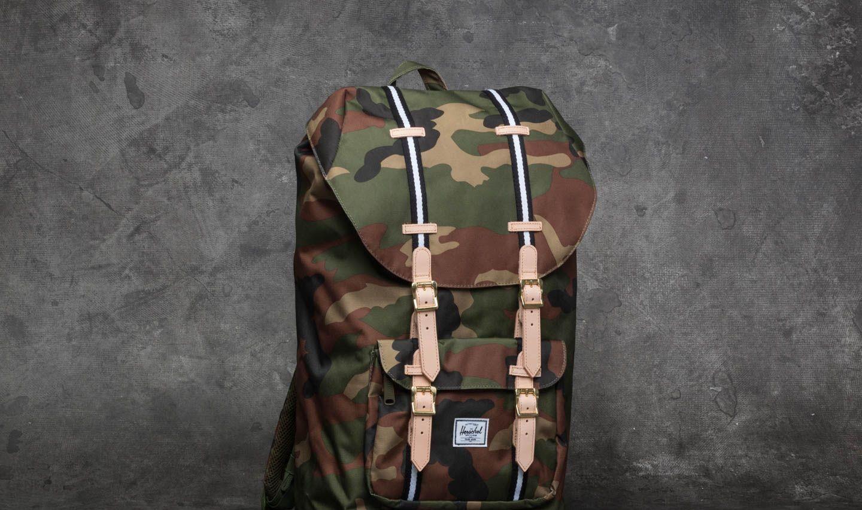 eaefd2e7e70 Herschel Supply Co. Little America Backpack Woodland Camo  Black  White -  zdjęcie 1