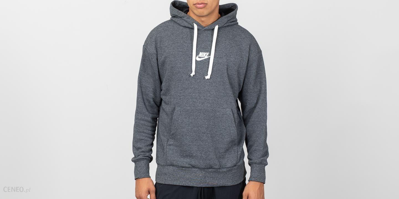 Nike Sportswear Heritage Pullover Hoodie Black Heather Sail
