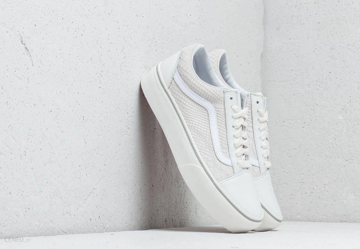 e01b292f7ed Vans Old Skool Platform (Leather) Snake  White - zdjęcie 1