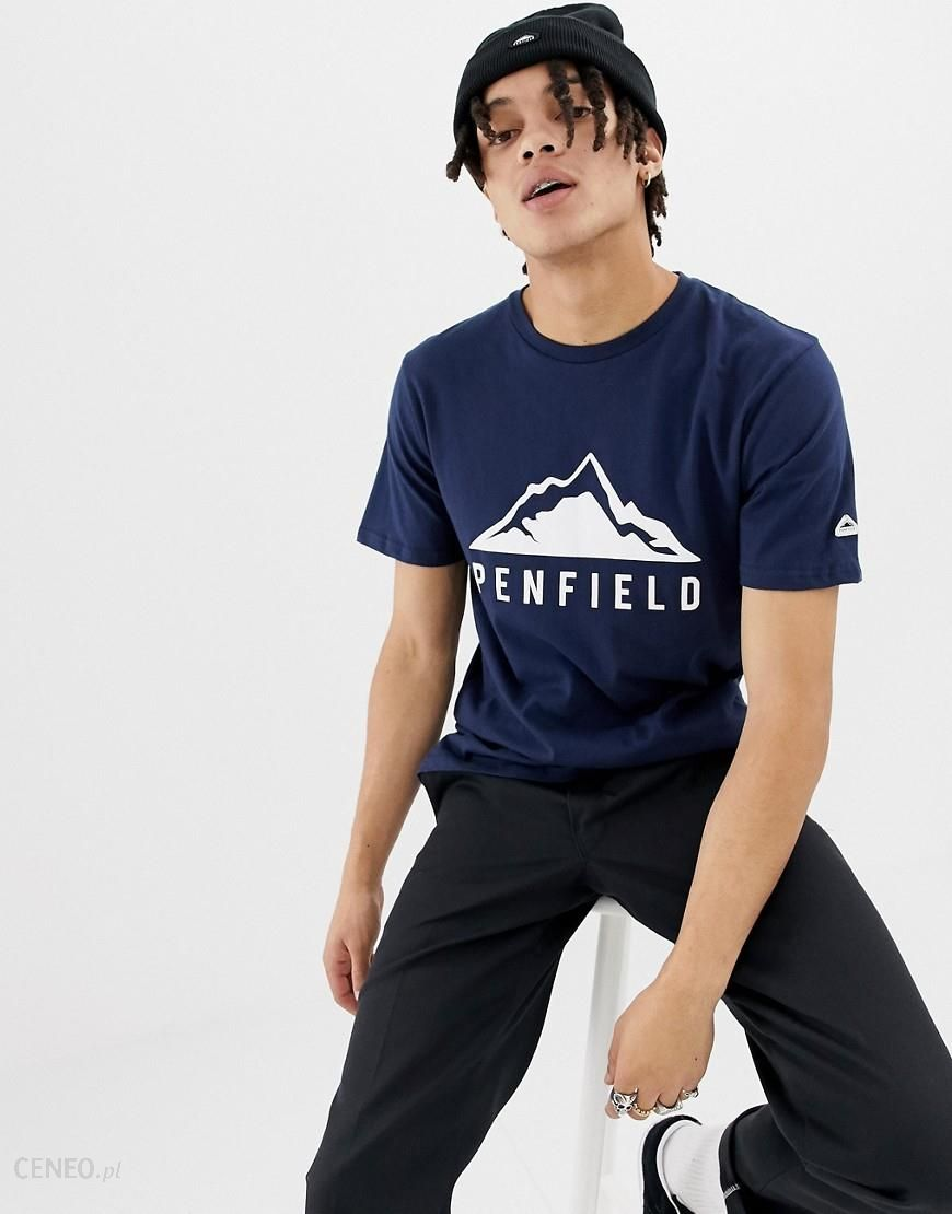 Penfield Augusta Mountain logo front t-shirt in navy - Navy - zdjęcie 1 556449725c