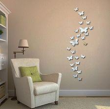 Homegadget Naklejki Na ścianę Lustrzane Motyle 3d Ms0003 Opinie I Atrakcyjne Ceny Na Ceneopl