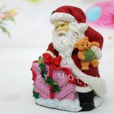 Aliexpress Silikonowe Formy świąteczne 3d Santa Claus Trzyma Prezent Piękny świece Formy Na Boże Narodzenie Dekoracje Handmade Soap Mold Ceneopl