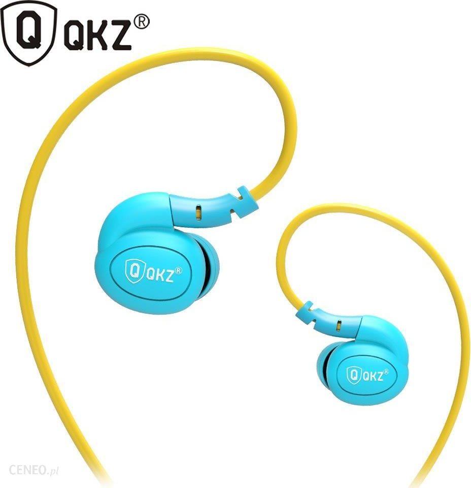 d7121aedcabf AliExpress QKZ DM100 Słuchawki Sportowe Do Biegania Z Drutu Pamięci  Wodoodporny IPX5 Z Mikrofonem Rożek Douszne