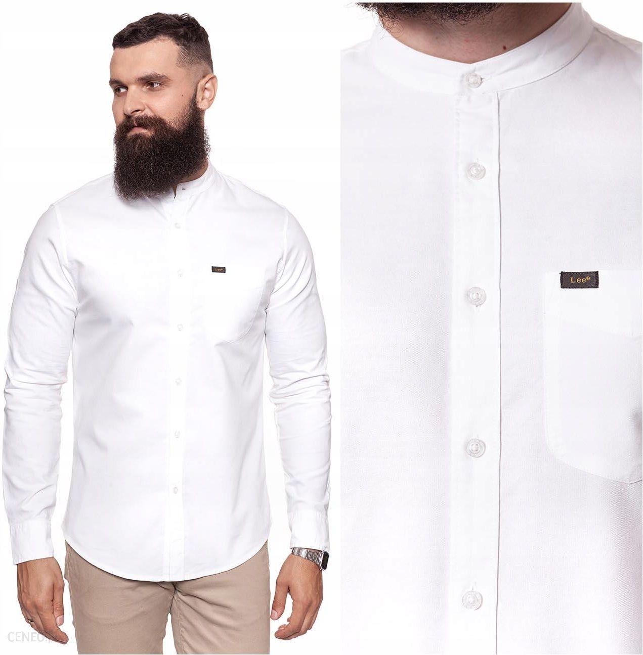 Koszula męska regular fit regular, regular fit biała  vRde3