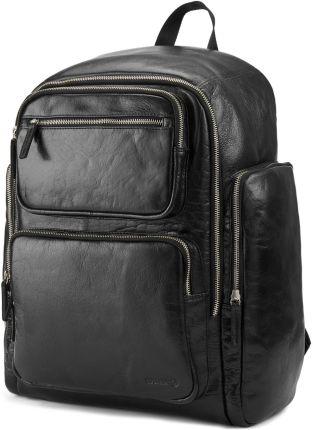 26491ca59b036 Solidny plecak damski klasyczny miejski plecaczek skóra eko - czarny ...