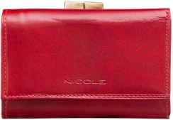 82757bbf6a61d NICOLE portfel damski z Włoskiej Skóry mały bigiel