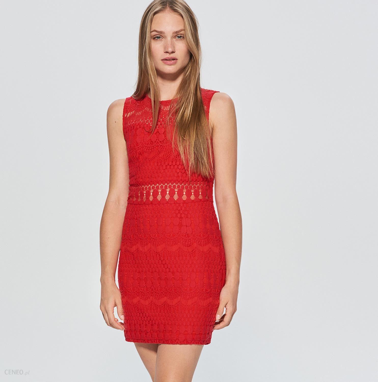d08932548a Cropp - Ażurowa sukienka - Czerwony - Ceny i opinie - Ceneo.pl