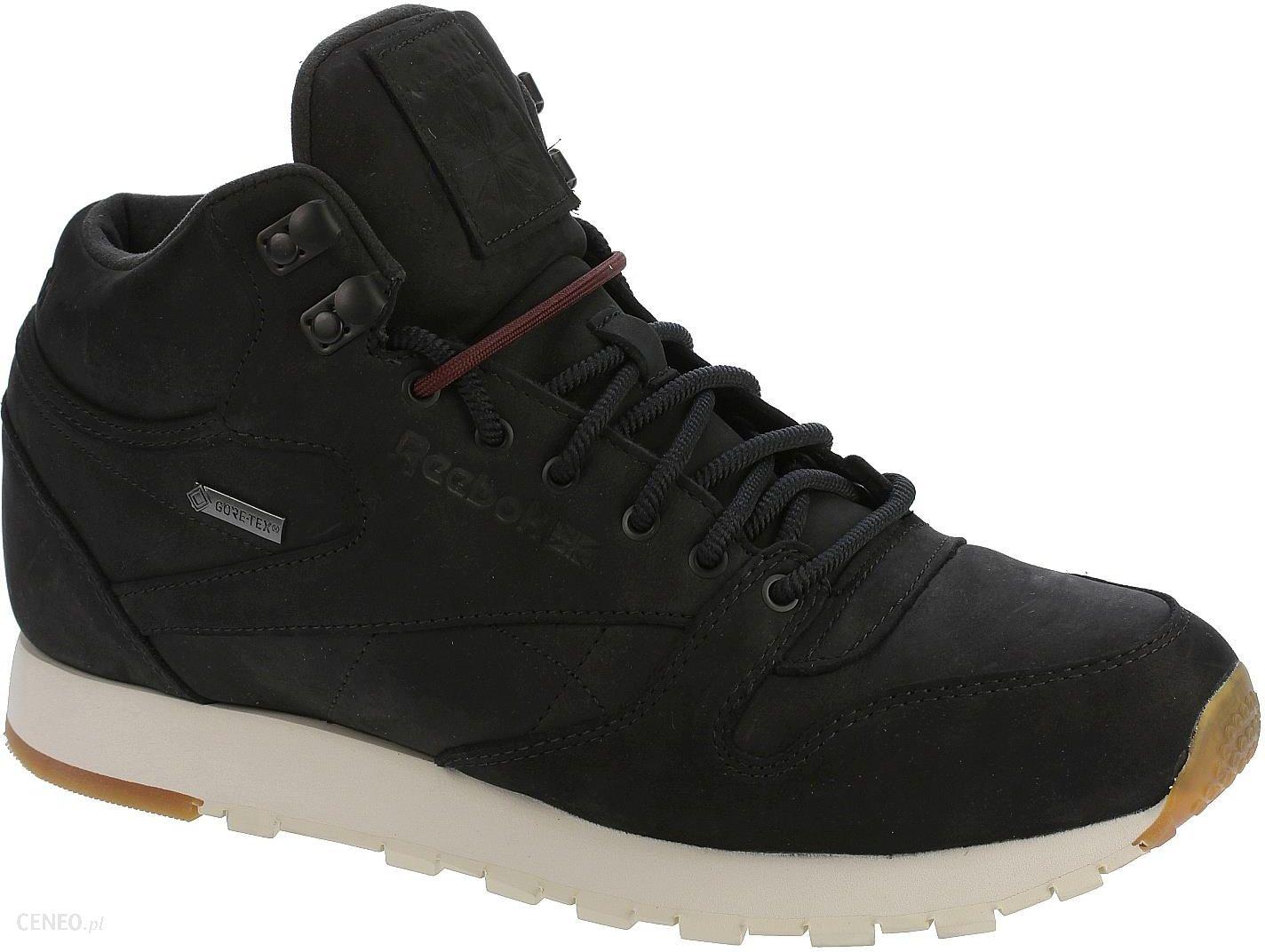 b33bb364 buty Reebok Classic Leather Mid GTX Thin - Black/Paperwhite/Gum 46 - zdjęcie