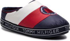 5f1463241aa0f Kapcie TOMMY HILFIGER - Downslipper Patch FW0FW04182 Rwb 020 eobuwie