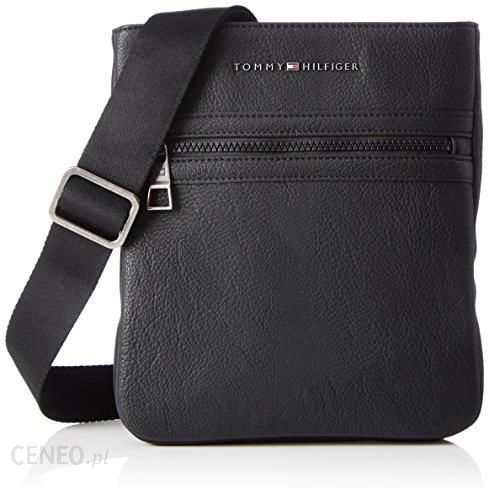 989d86821f324 Amazon Tommy Hilfiger ACCESSORI męska torba Essential Flat Crossover,  kolor: czarny (Black 002