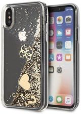 Guess Hard Case do iPhone XS Max złoty Glitter Hearts (guhci65glhflgo)