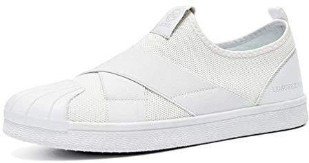 987d3e083e67 Amazon Męskie buty do biegania Breathable trwałe okrągłe palce sznurowane  na górze płaskie buty sportowe