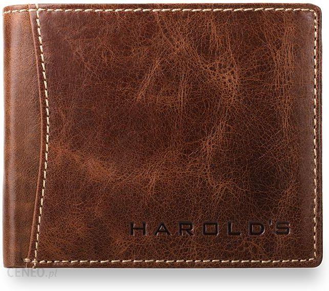 7ed7ed04facb9 Elegancki męski portfel, 100% skóra naturalna, harolds- brązowy - zdjęcie 1