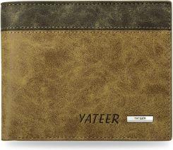 8fb4d5e495034 Nowoczesny portfel męski młodzieżowy - brązowy