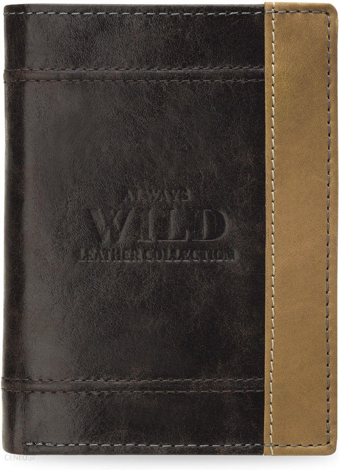f0832d3504305 Składany portfel męski always wild skóra naturalna - brązowy - zdjęcie 1